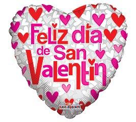 "San Valentine Globo 18"" Feliz Dia de San Valentin"