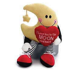 """San Valentine Peluche """"I Love You to the Moon and Back"""""""