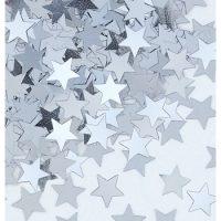 Confetti Estrellas Plateadas