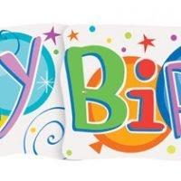Banner Happy Birthday Globos