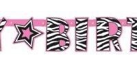 Banner Happy Birthday Animal Prints