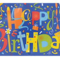 Banner Happy Birthday Confetti