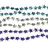 Collares Colores Metalicos Estrellas Paq 12 Unid