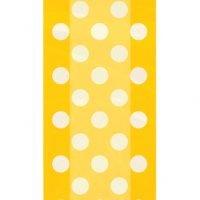 Bolsas Celofan Amarilla Lunares Blancos Paq 20 Unid Precio: ¢ 2.000,00