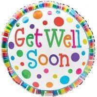 """Globo Metalico 18"""" Get Well Soon"""