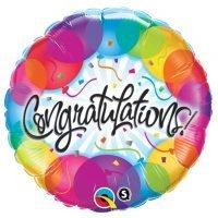 """Globo Metalico 18"""" Congratulations !(Redondo) Precio: ¢ 2.400,00"""