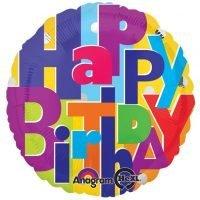 "Globo Metalico 18"" Happy Birthday (Redondo) Precio: ¢ 2.400,00"