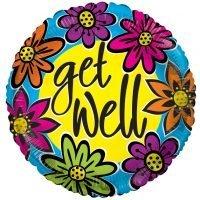 "Globo Metalico 18"" Get Well"