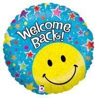 """Globo Metalico 18"""" Welcome Back!"""
