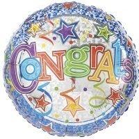 """Globo Metalico 18"""" Congrats"""