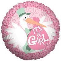 "Globo Metalico 18"" It's a Girl Precio: ¢ 2.400,00"
