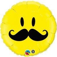 """Globo Metalico 18"""" Smile Mustach"""