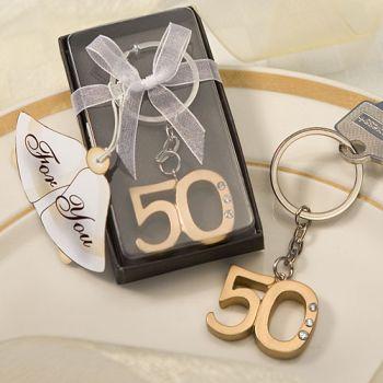 Aniversario 50 Llavero Dorado