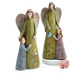 Dia de las Madres Angel Madre con Hijo o Hija