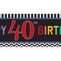 40Th Birthday Banner Precio: ¢ 4.500,00