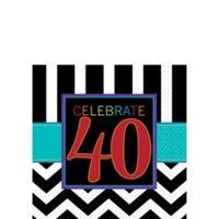 40Th Birthday Servilleta para Bebidas