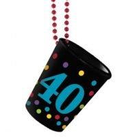 40Th Birthday Collar con Shot