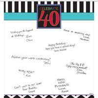 40Th Birthday Colgante para Firmas