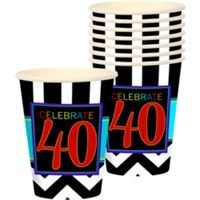 40Th Birthday Vasos de Carton