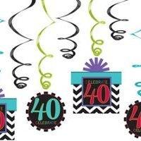 40Th Birthday Decoracion Colgante