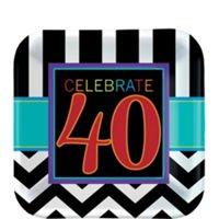 40Th Birthday Plato para Postre