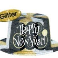Año Nuevo Sombrero Escarchado