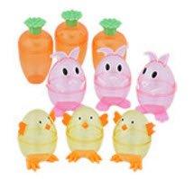 Easter Huevos Transparentes Zanahorias, Conejos y Pollitos