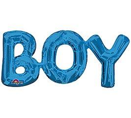 """Globo Metalico 20"""" """"BOY"""" Azul"""