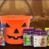 Halloween Balde Plastico Calabaza