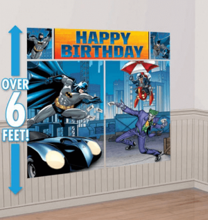 Batman Decoracion Pared Party Time Heredia