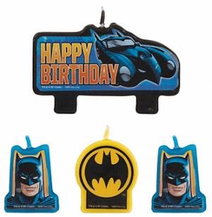 Batman Set Velas Party Time Heredia
