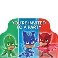 PJ Mask Invitaciones Party Time Heredia