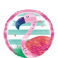 "Piña-Flamingo Globo Metalico 18"""