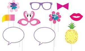 Piña-Flamingo Accesorios para Fotos