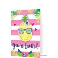 Piña-Flamingo Invitaciones