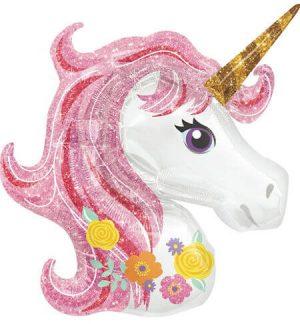 """Unicornio Magico Globo Metalico 33"""""""