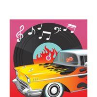 50's Rock and Roll Servilleta Cena