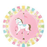 Baby Shower Carrusel Plato Postre