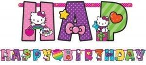 Hello Kitty Banner para Personalizar
