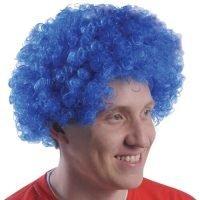 Peluca Afro Azul