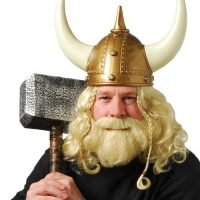 Peluca Vikingo Set