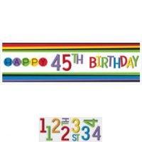 Cumpleaños Colores Baner Decoracion Personalizar
