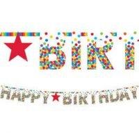 Cumpleaños Colores Baner Gigante