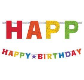 Cumpleaños Colores Baner Letras