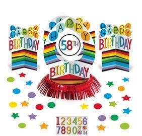 Cumpleaños Colores Centro Mesa