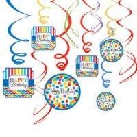 Cumpleaños Colores Decoracion Colgante