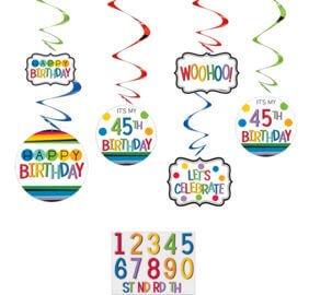 Cumpleaños Colores Decoracion Colgante Personaliza