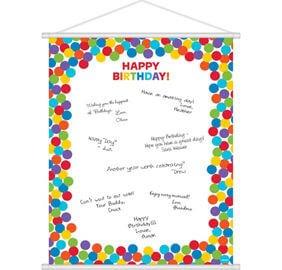 Cumpleaños Colores Decoracion Pared para escribir mensajes