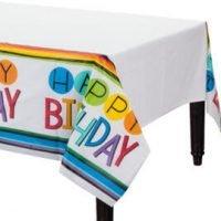 Cumpleaños Colores Mantel
