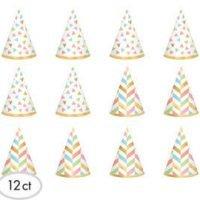 Cumpleaños Colores Pastel y Dorado Mini Sombreros Accesorios